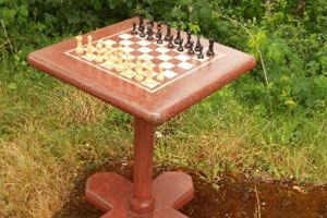 Red Chess Table