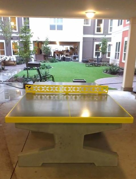 concrete tables concrete table tennis pictures bravado outdoor products llc