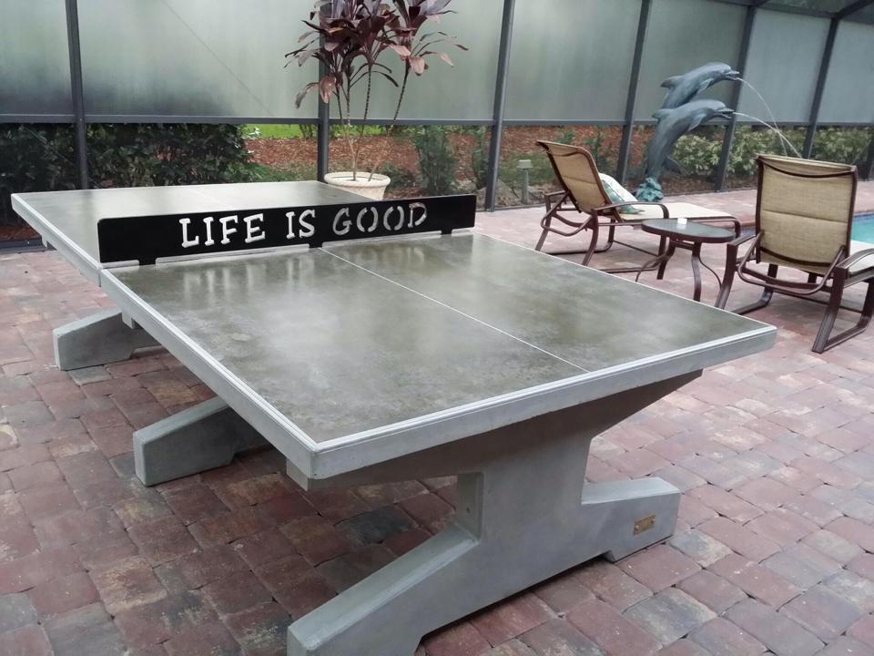 Outdoor Concrete Table Tennis Designs