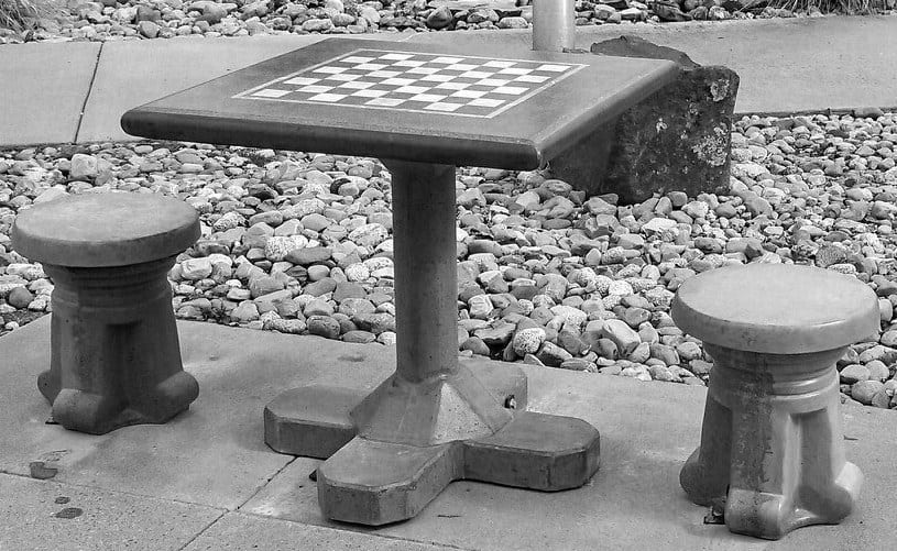Products- Concrete Ping Pong, Cornhole, Chess, Foosball