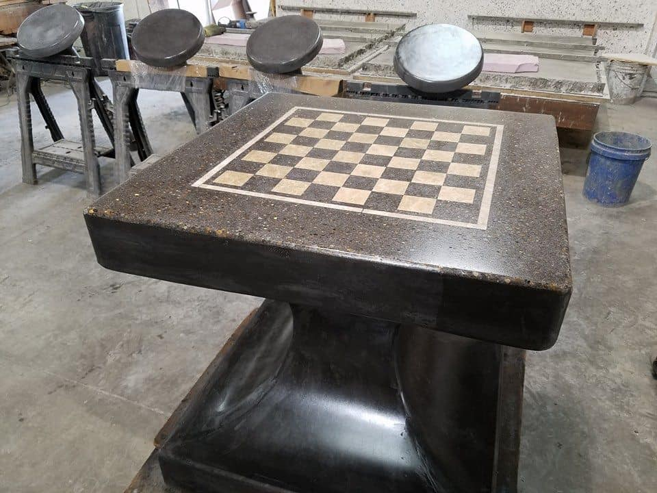 Concrete Chess table for parks, schools, and other outdoor