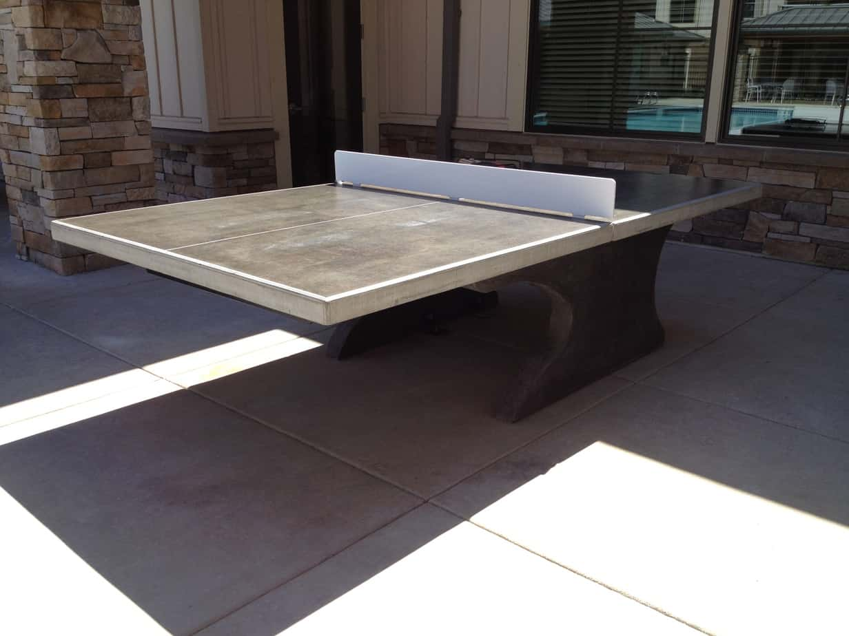 Concrete Table Tennis Table Concretetabletennis