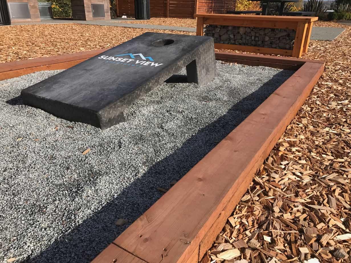 Concrete Cornhole Boards Custom Permanent Cornhole Boards