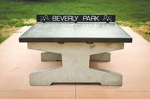 Concrete games concrete ping pong foosball cornhole chess - Outdoor table tennis table nz ...