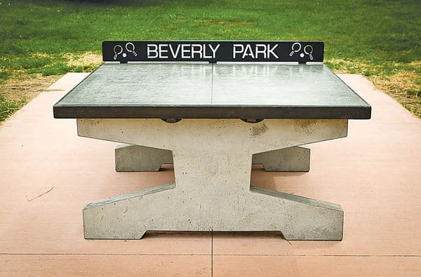 Concrete Table Tennis At Beverly Park